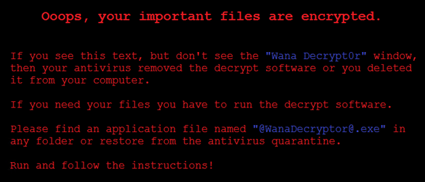 Ransomware messsage