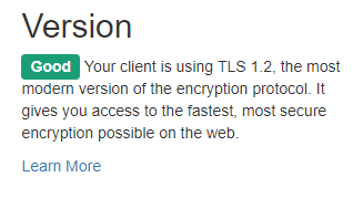 How is my ssl version
