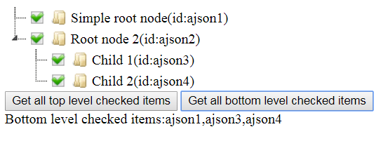 jsTree Get All Bottom Level Checked Nodes